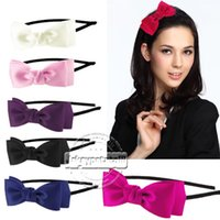 alice prom - CUTE BOWKNOT ALICE HEADBAND SATIN BOW HAIR BAND BRIDAL WEDDING PROM FLOWER GIRL