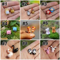 Wholesale Cute Cartoon Animal Figurines DIY Succulents Terrarium Micro Landscape Ecological Bottle Fleshy Moss Cute Tiny Home Garden Bonsai E387L