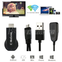 Wholesale MiraScreen OTA TV Stick Dongle Better Than EZCAST EasyCast Wi Fi Display Receiver DLNA Airplay Miracast Airmirroring Chromecast V1627