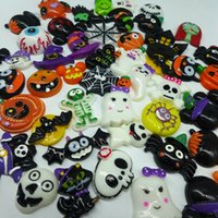 Wholesale mixed resin flatbacks Halloween Sets kawaii cabochons home decoration accessories diy
