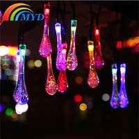 mouse animal - LED Fairy Light LED Solar Powered Water Drop String Lights for Wedding Christmas Party Festival Decoration