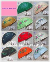 Wholesale I AM YOUR FANS Spanish style wood hand fan hand painted