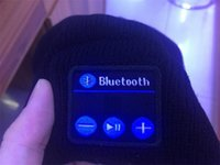 Wholesale 2016 Soft Warm Beanie Bluetooth Music Hat Cap with Stereo Headphone Headset Speaker Wireless Mic Hands free Wireless Microphone