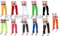 ladies knee socks - 2015 spring Knitted Leg Warmer knee highs bright colors Women Ladies Boots Socks Crochet Trim Leg warmers