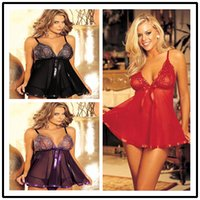 Wholesale Plus size lingerie women Sexy lingerie sexy lace dress erotic sleepwear hot baby doll MLXL2XL3XL4XL