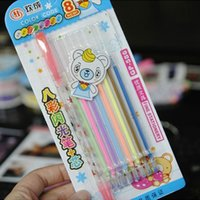 Wholesale Watercolor Pen Fashion Korean Creative Stationery Child Toys Flash Pen Hot buy more for fast way