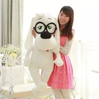 babies wearing glasses - New Arrival Cute White Naughty Wear Glasses Dog Dolls Soft Plush Toys Baby Lovely Birthday Gifts Toys YZT0034