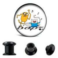 fake gauges - Acrylic piercing body jewelry Fake gauges pc Size Quantity adjustable Adventure Time logo