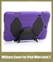 apple ipad - apple tablet PC cover for iPad Mini mini military case waterproof dustproof with stand built in screen protector colorful PCC003