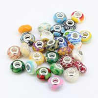 Cheap Wholesales 100pcs Lot Mixed Color Polymer Clay Rondelle Spacer Big Hole Charms Beads For European Jewelry Bracelet Making