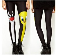 Wholesale 2015 New Leggings Slim Tights For Women Sexy D Galaxy Print Seamless Pencil Pants Fashion Donald Duck And Cat Leotard