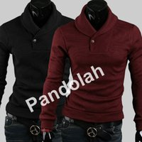 pullover men - NEW Fashion Mens Sweaters Turtle Neck pullover Men Sweaters Irregular Tight Collar Slim Fit Knitted Sliming Sweater Colors