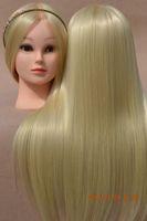 hair mannequin head - hot sale Mannequin Maniqui High Temperature Hair Fiber Training Female Mannequin Head With Hair