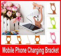 bearing bracket - Creative lovely Bear style MOBILE PHONE CHARGER HOLDER BRACKET Popular cell phone tool holders bracket to fix C P when charging