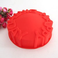baking pans types - Happy Birthday type Silicone cake mold Tools Baking Pan Tray Mak