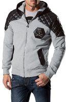 argyle cardigan men - Fall brand men cotton hoodies fashion skull Autumn men sport jacket coat men clothes
