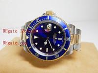 Wholesale Luxury Top Quality Wristwatch Men s SS K Sub Blue Dial Automatic Men s Watches Original Box Papers