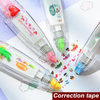 Wholesale 12 Decoration tape Cute animal correction tape scrapbooking tools letter diary Kawaii stationery School supplies