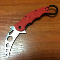 Cheap Fox Claw Karambit Training Red G10 Handle Folding blade knife Outdoor gear EDC Pocket Knife hunting knife camping knife knives