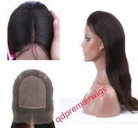 silk top full lace wigs - Silk Top Full lace Wigs For women Remy Indian Human Hair Wigs quot Natural Color Natural Straight X4 Silk Base