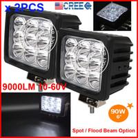 atv light led - EMS quot W LED W CREE LED Driving Work Light Square Offroad SUV ATV WD x4 Spot Flood Beam V lm Truck Head SUPER Bright