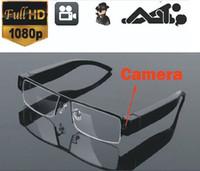 Wholesale Full PHD Hidden audio video recorder spy camera eyewear V13 glasses hidden camera video sunglasses mini camera by DHL