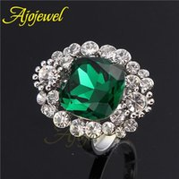 Cheap Green Red Color For Choose Size 7-9 Fashion Top Of Finger Anial The Midi Crystal Finger Ring