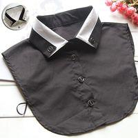 Wholesale New Fashion Women False Shirt Collar Black White Patchwork Girl s Fake Collar Blouse Detachable Collar OJ0034 salebags