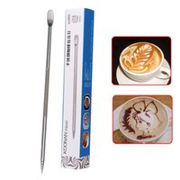 barista espresso - 2015 NewHot creative Barista Espresso Coffee Decorating pen Art Stainless Steel Household Cafe Tool
