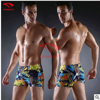 Wholesale 2016 summer new boxer swimming trunks black man sexy four swimming trunks pieces a batch of L XXXL9 color