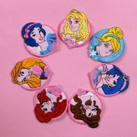 Wholesale Lovely Princess patches for clothing sew on patch iron on patches Snow White Appliques embroidered patch cloth patches kids gift