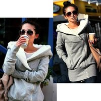 Wholesale Fashion Jacket Sweatshirts For Women Hoodie Warm Outerwear Jackets Coats Hooded Colors Sizes b6