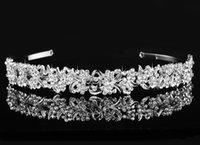 Wholesale 2016 Fashion Elegant Bridal Headbands Pearl Wedding Crown Tiara Hair Accessories Rhinestone Hair Jewelry Bride Party