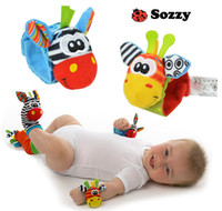 Wholesale Animal Baby Infant Kids sock Foot bracelets Rattles Toys Developmental Soft Sozzy