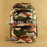 Wholesale 2015 new men and women in camouflage skateboard backpack computer bag schoolbag Tide brand