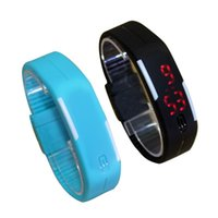 Wholesale Fashion touch screen sport LED Watches Candy Color Silicone Rubber Digital Watches Waterproof Bracelet Wristwatch silicone mini bracelet w