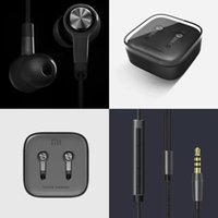 Wholesale HOTSELL Xiaomi Piston Earphones mm Miband Stereo cell phone Earphones Earbuds With Remote Mic handsfree volume earphone