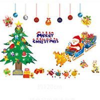acrylic wall displays - Creative New Christmas Wall Stickers Decoration PVC Removable Display Window Showcase Decor Wall Stickers party decoration