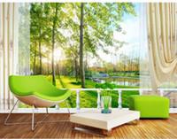 Wholesale Customize size D landscape garden scenery wallpaper mural wallpaper non wvoen wallpaper factory direct20152853