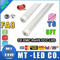 Cheap 20unit sale single pin LED tube light lamp SMD 2835 LED fluorescent light tube T8 2400mm 2.4M 8ft FA8 SMD2835 192led 45W AC85-265V