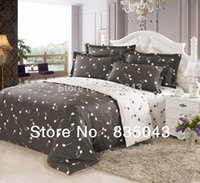 Wholesale 100 Cotton musical notes comforters duvet cover Bedding four set Retro bed linen music notes bedding queen size