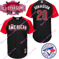 Wholesale 2015 American league all star bp donaldson jersey black authentic stitched baseball jerseys top quality accept mix order