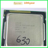 Wholesale G630 G645 G840 Intel Original desktops cpu Intel Pentium Dual Core G630 Ghz M nm LGA Dual CORE