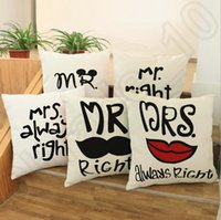 big red sofa - 10 Design Creative Polyester Linen Throw Pillow Case Big Beard and red lips Sofa Waist Cushion Cover cm LJJJ39