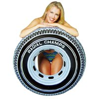 Wholesale Large Tire Shaped PVC Adult Swimming Ring Life Buoy Color Random