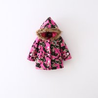Wholesale Children outerwear thickening lamb flocking Sweater Fleece hoodies camouflage sportswear girls Hooded coat clothes hoody jacket