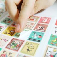 beautiful photo albums - Diy Photo Album Beautiful Sticker Stamps Paper Decoration Scrapbooking Stickers Nostalgia Stamps Stickers S363