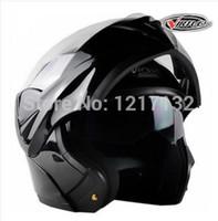 better abs - Limited full face motorcycle helmet flip up capacete double lens helmet off road racing safety helmet better than jiekai105