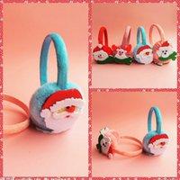 adult baby accessories - Christmas Ear muff Cartoon Santa Milu Snowman Fleece Ear Warmer Headbands For Winter Kids Adults Christmas Gift Baby Fashion Accessory