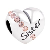 silver - silver charms silver Love charms Love Sister Charm mothers day silver charms fit charm bracelets No80 X121A